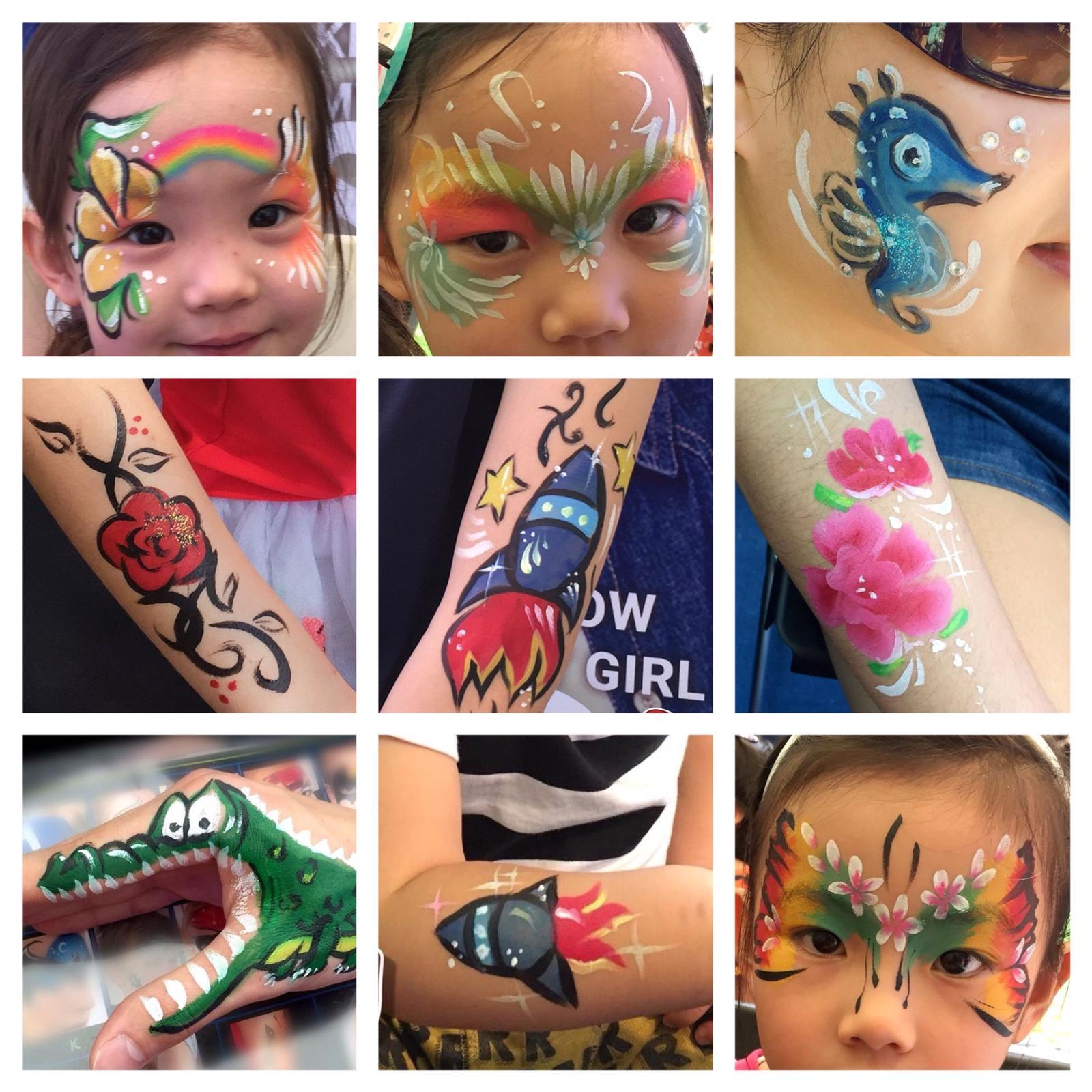 Face painter Emily: birthday parties hong kong childrens shows magic juggling functions birthdays party hong kong 生日會派對、小丑、扭汽球、雜耍雜技, 舞蹈  遊戲, 小丑扭汽球、雜耍雜技