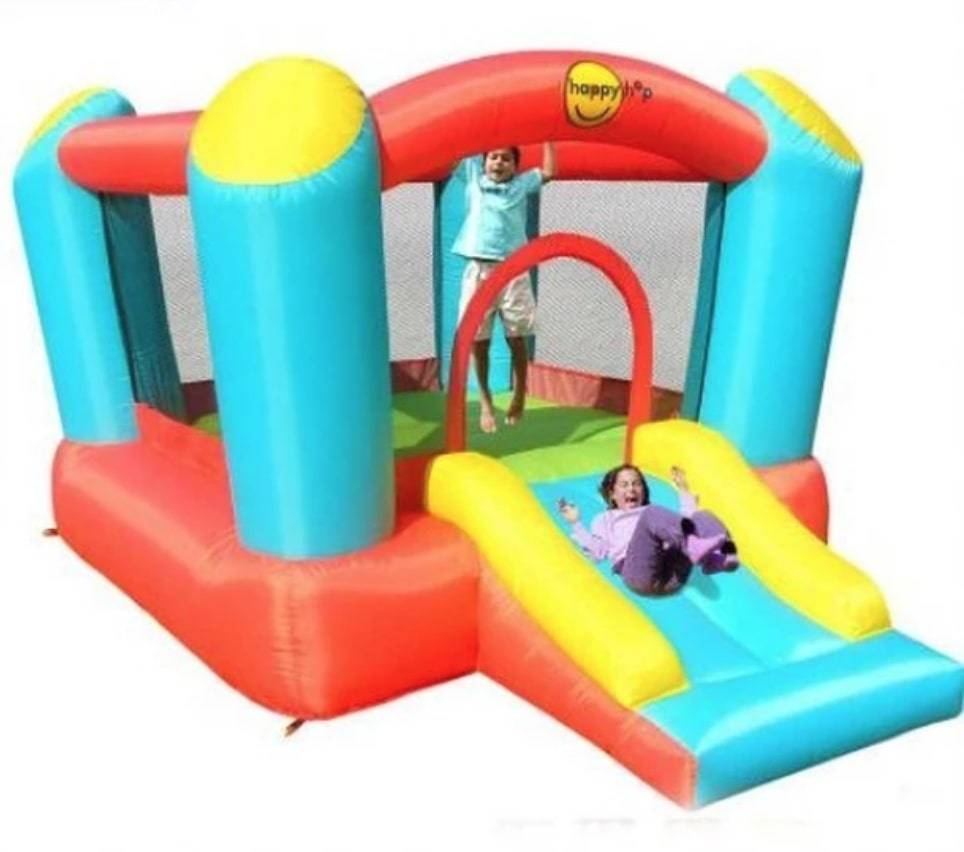 Airflow Bouncer with Slide: birthday parties hong kong childrens shows magic juggling functions birthdays party hong kong 生日會派對、小丑、扭汽球、­雜耍雜技, 舞蹈  遊戲, 小丑扭汽球、雜耍雜技