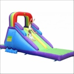 Rainbow Double Slider Castle: birthday parties hong kong childrens shows magic juggling functions birthdays party hong kong 生日會派對、小丑、扭汽球、雜耍雜技, 舞蹈  遊戲, 小丑扭汽球、雜耍雜技