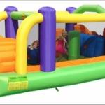 Obstacle Bouncer: birthday parties hong kong childrens shows magic juggling functions birthdays party hong kong 生日會派對、小丑、扭汽球、雜耍雜技, 舞蹈  遊戲, 小丑扭汽球、雜耍雜技